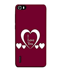 Fuson Designer Back Case Cover for Huawei Honor 6 (Hearts Spades Coffee Red Love )