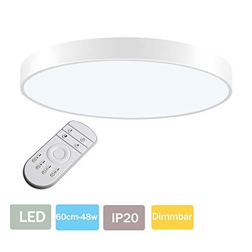 LED Lámpara de Techo 48W Plafón Led de Techo 2880Lúmenes Regulable 3000-6000K...
