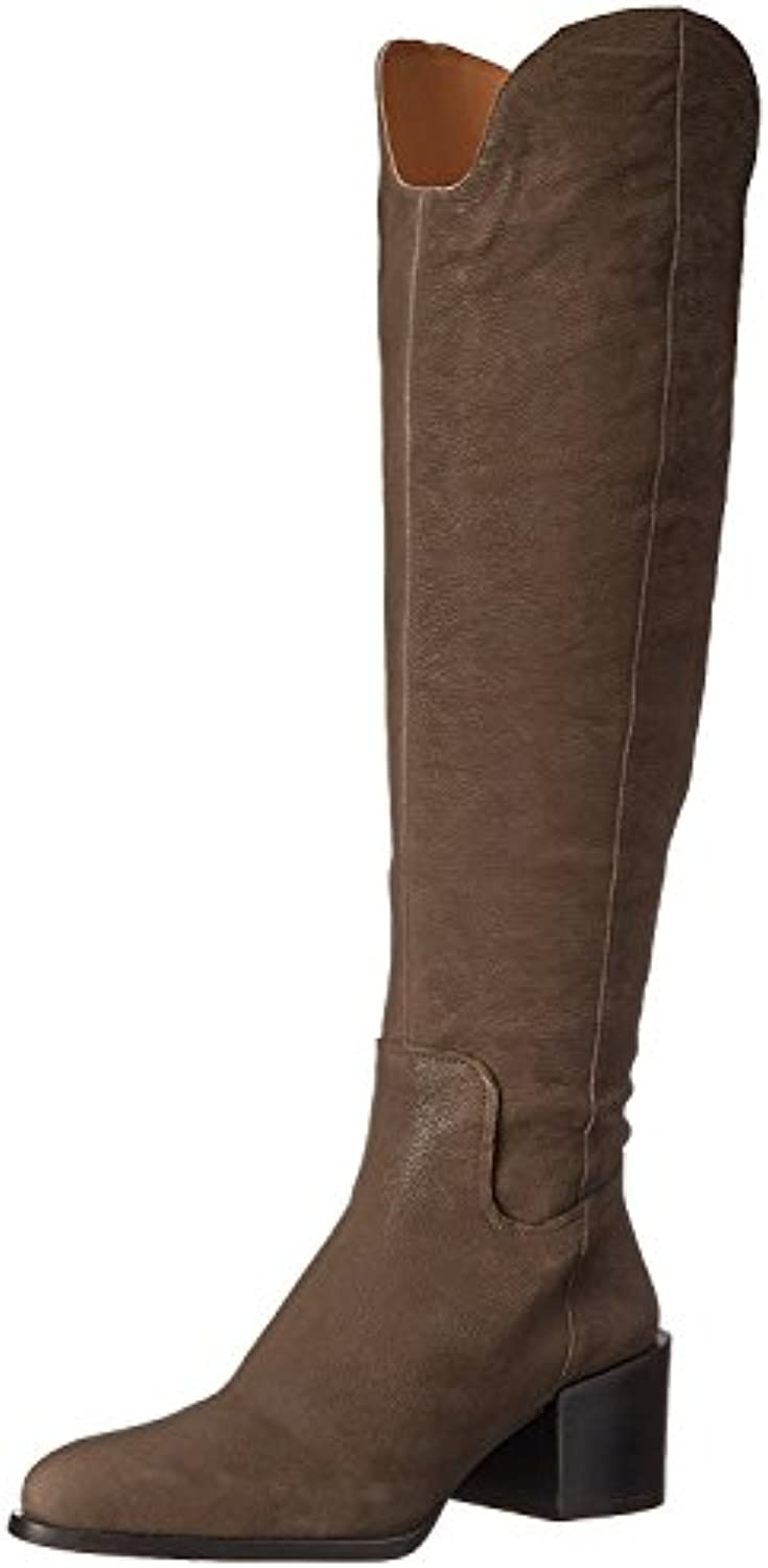 Nine West Women'S Enrica Leather Over-The-Knee Boot, Gris Oscuro, 39 B(M) EU/7 B(M) UK
