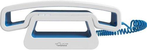 Swissvoice CH01 schnurgebundenes ePure-Handteil an Mobiltelefon, PC, Tablet blau