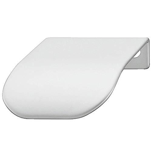 Gedotec Schrankgriff für Vitrine Kantengriff für Kleiderschrank Möbel-Griff für Sideboard - H1839 | 44 x 46 x BA 32 mm | Stahl verchromt matt | 1 Stück