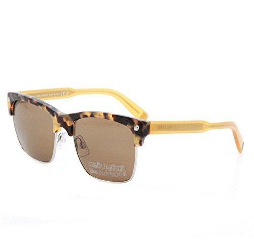 DSQUARED² Designer Sonnenbrille, Braun und Ocker mit grau-braunen Gläsern, Wayfarer