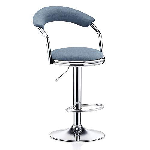 Barhochstuhl aus massivem Holz, europäischer Hochhocker, Kaffeestuhl, Sessel, Arbeitsstuhl, ergonomischer Stuhl-Blue