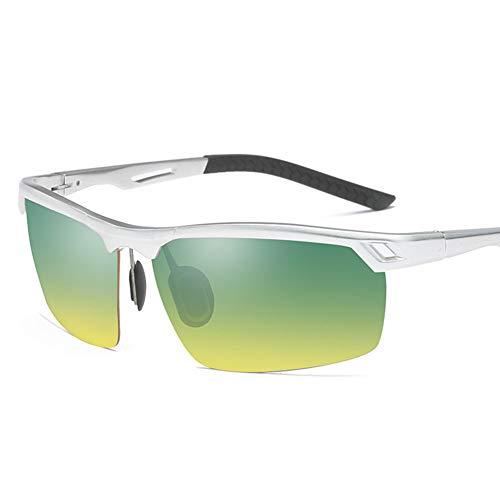 LXC Men ' S Sonnenbrillen, New Men ' S Aluminum Magnesium polarisierte Sonnenbrille Tag und Nacht Fahrende Vision Driving Gläser,b