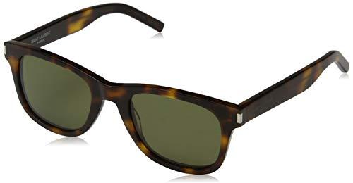Saint Laurent Unisex-Erwachsene SL 51 019 Sonnenbrille, Braun (019-AVANA/GREEN), 52