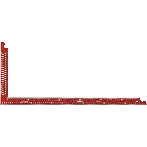 SOLA Zimmermannswinkel ZWCA mit Anreißlöcher Schienenlänge 800 mm, rot, 56132201
