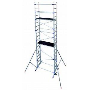 Trabattello in alluminio Mod. PINNA CLIC CLAC Altezza di lavoro 6,46 mt