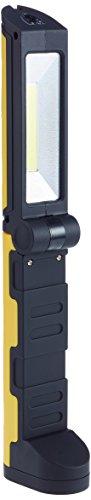 Heitech 04003467 Cob-Taschenlampe/Arbeitsleuchte 2-in-1 schwarz/gelb