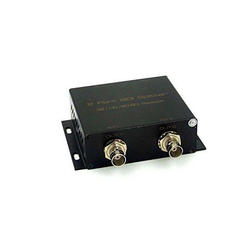 Sienoc 2 Port SDI Spalter 1X2 SD SDI Verteilverstärker Video Splitter 1080p Repeater Extender - Schwarz (Splitter Hd-sdi)