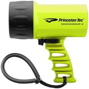 Princeton Tec Shockwave II - Linterna sumergible de buceo y snorkel, color amarillo