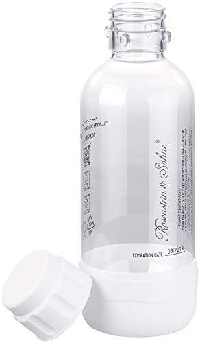 Rosenstein & Söhne Zubehör zu Aroma-Wasser Sprudler: PET-Flasche für Getränke-Sprudler WS-300.multi, 0,5 Liter, BPA-frei (Soda-Sprudler mit Wasserflasche)
