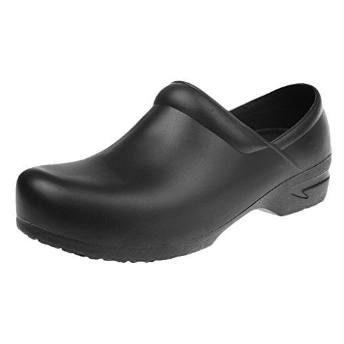 MagiDeal Sandali Pantofole Pattini Scarpe Di Sicurezza Antiscivolo Olio Prova Impermeabile Per Uniforme Cucina Cuoco Chef Uomo - Nero, 37
