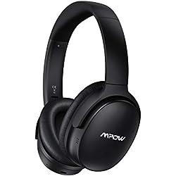 Casque Bluetooth Reduction de Bruit Active, Réduction du Bruit du Double Microphone, Casque Audio Over-Ear stéréo Hi-Fi, CasqueBluetoothSans Fil, Mpow H10 CasqueBluetoothSans Fil pour Téléphone/PC