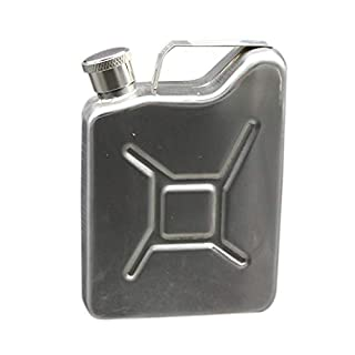 Alextry Outdoor Portable 5oz Stainless Steel Hip Flask Liquor Wine Pot Flagon Jerrycan Oil Fuel Petrol Gasoline Can