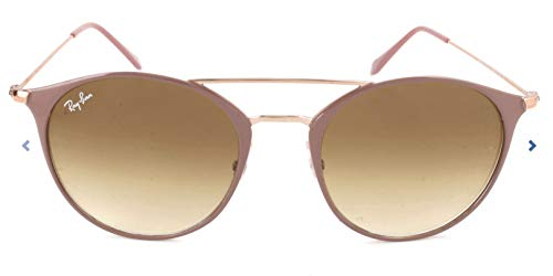 RAYBAN JUNIOR Unisex-Erwachsene Sonnenbrille RB3546, Copper Top On Beige/Cleargradientbrown, 52