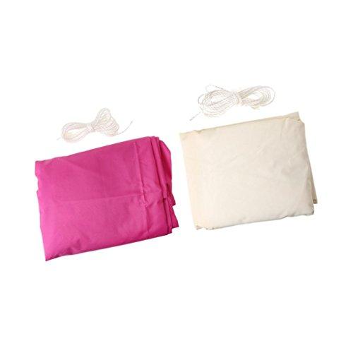 Galleria fotografica Sharplace 2pezzi Vele Parasole Triangolo Ombra Vela Piscina Esterna 3,6m Bianco E Rosa