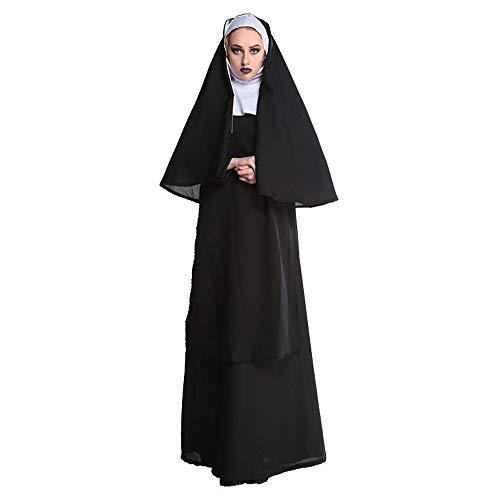 Nonne Cosplay Kostüm Halloween Horror Frauen Kleid Film Valak Anzug M-XL,XL