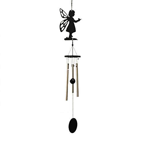 Gespout 3 Rohre Windspiel Glocken Handwerk entspannende Töne für Garten und Wohnkulturgeschenke Wind Chimes Size 12 * 7.5 * 5cm (Angel)