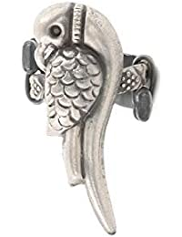 Ahilya Jewels White 92.5 Sterling Silver Parrot Tota Ring for Women