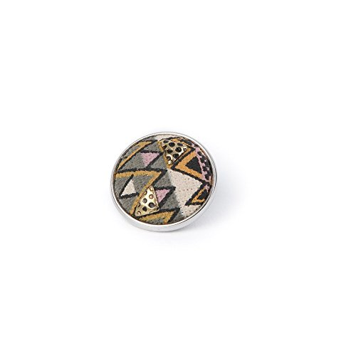 Noosa Chunk 260 Zulu grey/ pink/ brass-fabric/ brass (Chunk Stoff)
