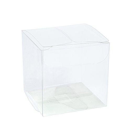 Transparente Boxen / Clear Geschenkboxen für Hochzeit, Party und Baby Dusche Gefälligkeiten, 8 x 8 x 8 CM (Klar, Party Favor Boxen)