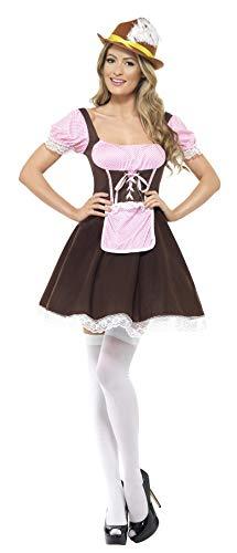 en Mädel Kostüm, Kurzes Kleid mit angesetzter Schürze, Größe: S, 20609 ()