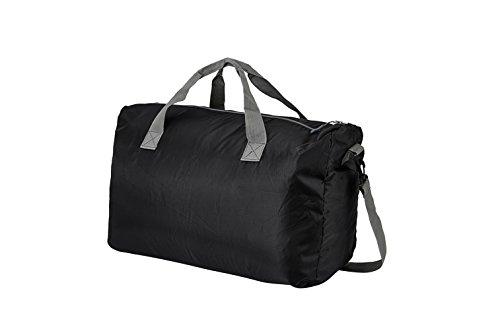Travel Tasche DH Wasserdicht Faltbare Tasche groß Kapazität tragbar Gepäck Tasche. Größe: 55* 21* 38cm (geöffnet) 18* 25cm (passen & # xff09; schwarz