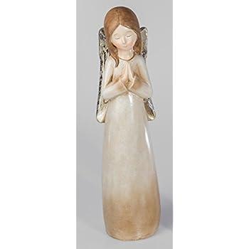 40 cm formano Engelsfigur Dekoengel Keramikengel in creme glasiert
