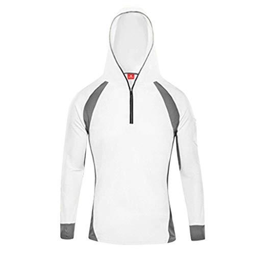 Moonuy Herren Long Sleeves Tops Mann Patchwork Sweatshirts Hoodie Angeln Rollkragen Anzug Reißverschluss Bluse Mit Reißverschlüssen -
