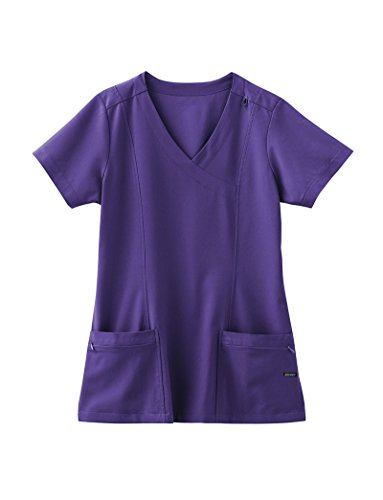 Classic Fit Collection By Jockey Women's Mock Wrap Scrub Top X-Large - Wrap Mock Womens Scrubs