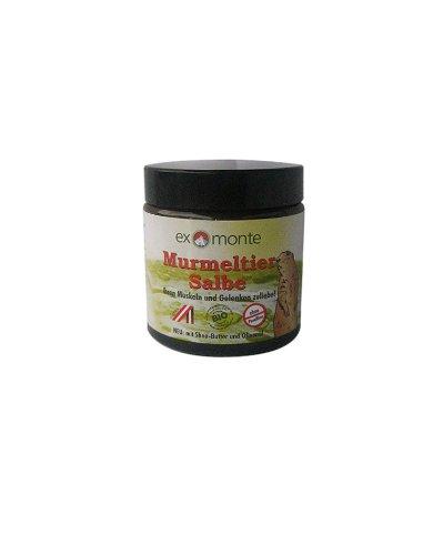 Exmonte Murmeltiersalbe 100ml, ohne Paraffine mit Sheabutter & Olivenöl, Ihren Muskeln & Gelenken zuliebe