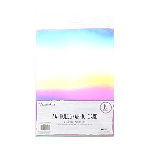 Dovecraft Essentials A4 Holographic Card, Multi Colour, 1