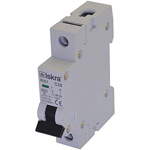 Sicurezza automatica fusibili interruttore automatico magnetotermico MCB ECO-Line 20A Tipo C 1poli 6KA 230/400V 1pezzo