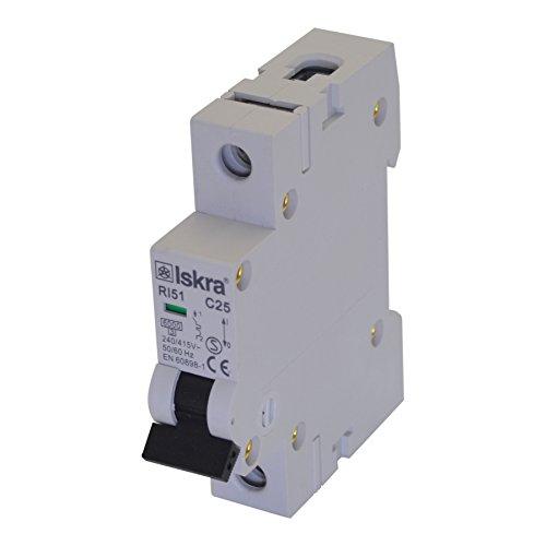 Sicherungsautomat Sicherungen Leitungsschutzschalter MCB Eco-Line 10A Typ C 1-polig 6KA 230/400V 1 Stück (2-polig Line)