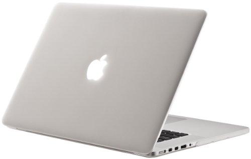Matt Notebookhülle / schützen Koffer für MacBook Pro 15,4 Zoll mit Retina-Display (Modell A1398 ohne DVD-Player) - Transparent (Mit einem kostenlosen europäischen Version transparenten Tastaturschutz Haut)