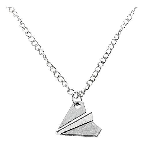 SODIAL Fashion One Direction Harry Styles Papierflieger Halskette (Silber)