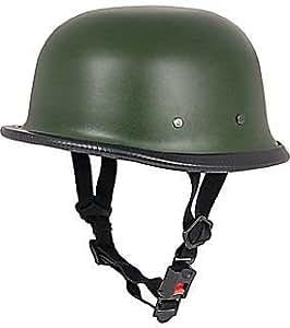 Delhitraderss German Style Motorbike Helmet for Royal Enfield Thunderbird 350 Type 2 (Matty Green)