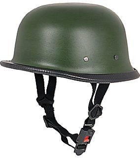 Delhitraderss German Style Motorbike Helmet for Royal Enfield Thunderbird 350 Type 2 (Matty Green)