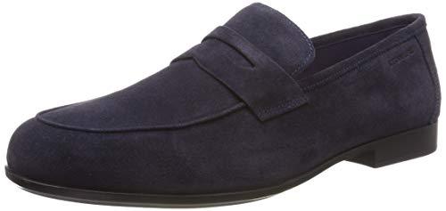 Stonefly summer ii 11 velour, mocassini (loafer) uomo, blu (indigo blue 11b), 43 eu