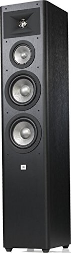 JBL Studio 280 BK - Altavoz de suelo de 3 salidas con amplia dispersión del sonido, negro