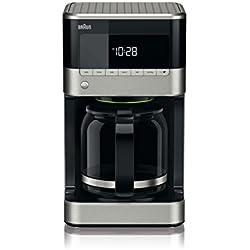 Braun KF7120 Black Cafetière de 12 tasses programmable Inox/Noir 1000 W