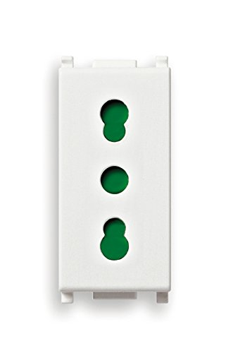 Vimar 14203 Presa di Corrente 1 Modulo, Bianco
