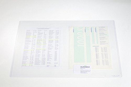 Durable 711319 Schreibunterlage (Duraglas, 50 x 65 cm) transparent