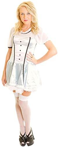 Fancy Me Damen Sexy Viktorianisch Alice im Wunderland Damen Kostüm Kleid Outfit - Blau, 8-10