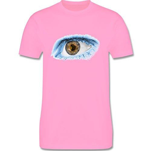 Länder - Auge Bodypaint Argentinien - Herren Premium T-Shirt Rosa