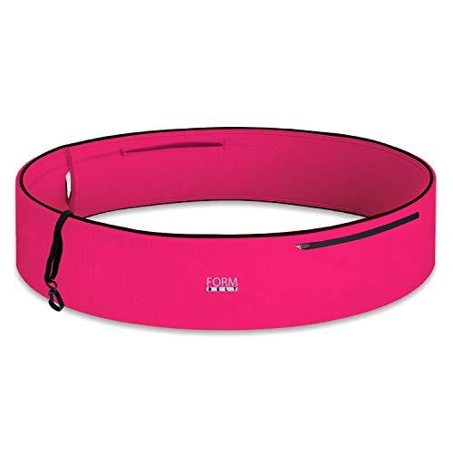 Formbelt® Plus Sport-Bauchtasche mit Reißverschluss, Laufgürtel für Handy Smartphone, elastische Lauftasche iPhone 8 8 Plus X 7 Plus + Samsung Galaxy S-7 S8 Plus Reise-Hüfttasche (pink, XXL)
