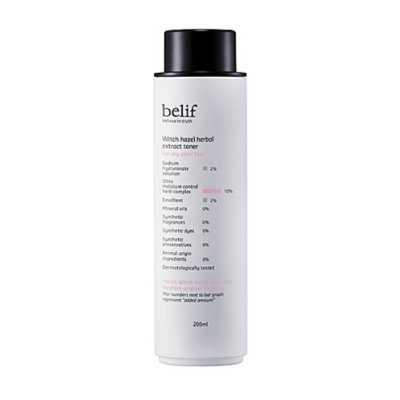 belif, Witch Hazel Herbal Extract Toner 200ml (for dry skin, moisturizing, nutrition supply)