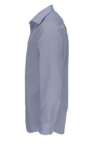 Seidensticker - 0Seidensticker Hemd Splendesto Popeline Ecru Kentkragen In Langarm (66Cm) - Chemise Décontractée - Homme Bleu - Blue - hellblau (0012)