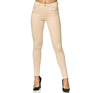 Elara Damen Stretch Hose | Skinny Röhrenjeans | Elastischer Bund | Slim Fit | Chunkyrayan