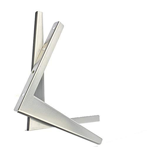 ZZWBOX Verdickte Außenhalterung für Klimaanlage aus Edelstahl 304, 1-1,5p 2p 3p 5p304 Gesamthalterung für Klimaanlage aus Edelstahl, Versandbefestigungsschrauben, Dicke 2,9 mm,Silver-5p -